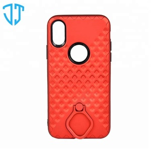 360 Rotating Finger Ring Holder Mobile Phone TPU PC Case for iPhone X