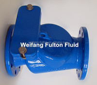 Ductile iron cast iron rubber flap flanged swing check valve price