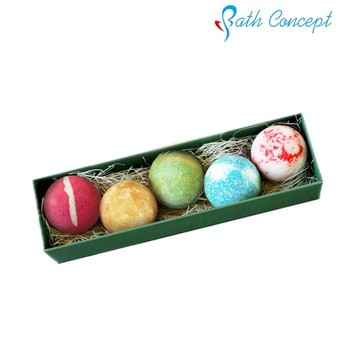 OEM Christmas gift set for Fizzy bath bomb packaging