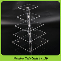 decorative acrylic cakes holder shelf for wedding cheap price acrylic cakes display stand made in china plexiglass cupcake stand