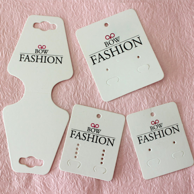 Guangzhou printed logo jewelry cards, earring and necklace cards,