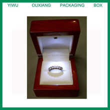 high glossy lacquer finish led light engagement rings box