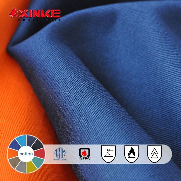 twill / plain cotton fire resistant lining fabric / fr lining cloth mill