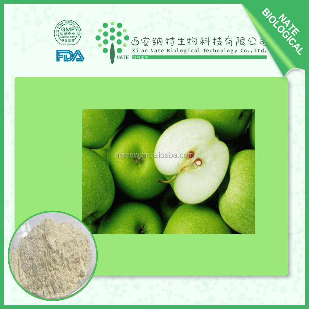 100% Natural Pure Apple extract/ Green Apple extract powder/Apple polyphenols 70% 80%, Phloretin 70%, 98%,CAS No: 60-82-2