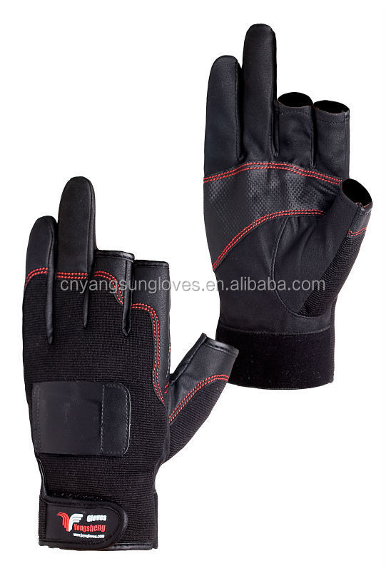 New Design sport gloves,outdoor two finger fishing gloves