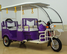 Battery operated passenger electric tricycle