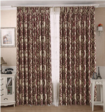 ALLBRIGHT factory price 100% polyester different kinds of styles luxury blackout curtain for room