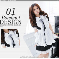 Latex Lady Sexy Japanese Maid Cosplay Costume Cute Pattern Halloween Wholesale
