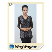Lace fabric fashion design lady crochet blouse vietnam manufacturing