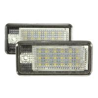 2 White Car Error 18 LED License Number Plate Light Lamp For Audi A3 S3 A4 S4 B6 B7 A6 S6 A8 Q7