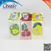 fruit shape hanging Paper car air freshener with OEM price