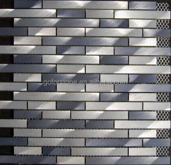 backsplash silver mosaic tile aluminum mosaic sheet hand