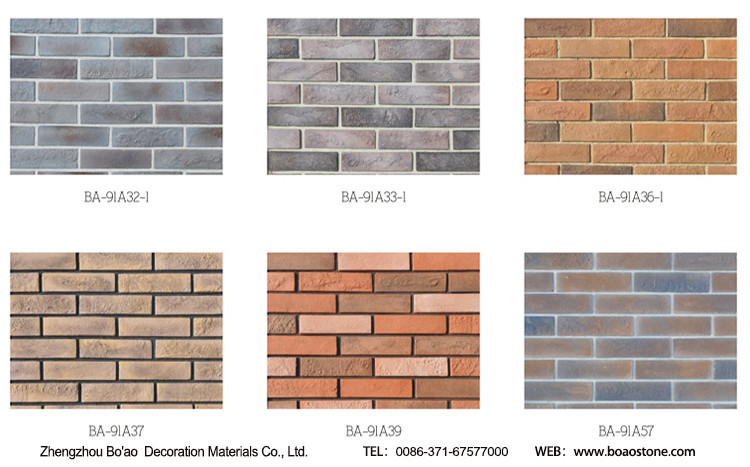 Brick Cement Board : Archaized art brick thin cement board type buy