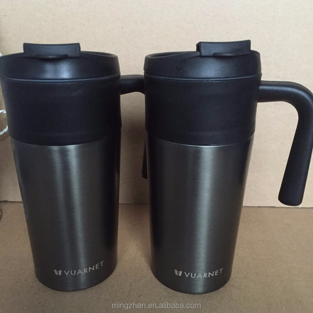 2016 new style 450ml double wall stainless steel vacuum insulated travel coffee mug with lid