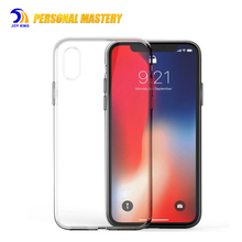 Cell phone accessory Crystal clear silicone transparent tpu mobile phone case for iphone x, for iphone 7/8 cell phone covers