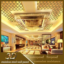 Stainless Steel Modern 3D Wall And Ceiling Covering Materials