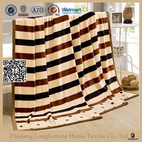 2015 texture stripe fabric flannel blanket