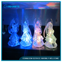 Colorful Acrylic Crystal Angel Nightlight, HOT 098, LED christmas decorative lights