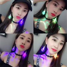 Hot Selling Fashion Fancy Flashing LED Light Bulb Alloy Earring For Jewelry Accessories