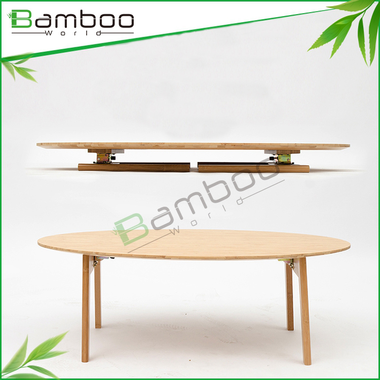 Wholesale promotion natural color bamboo fold coffee table for sofa
