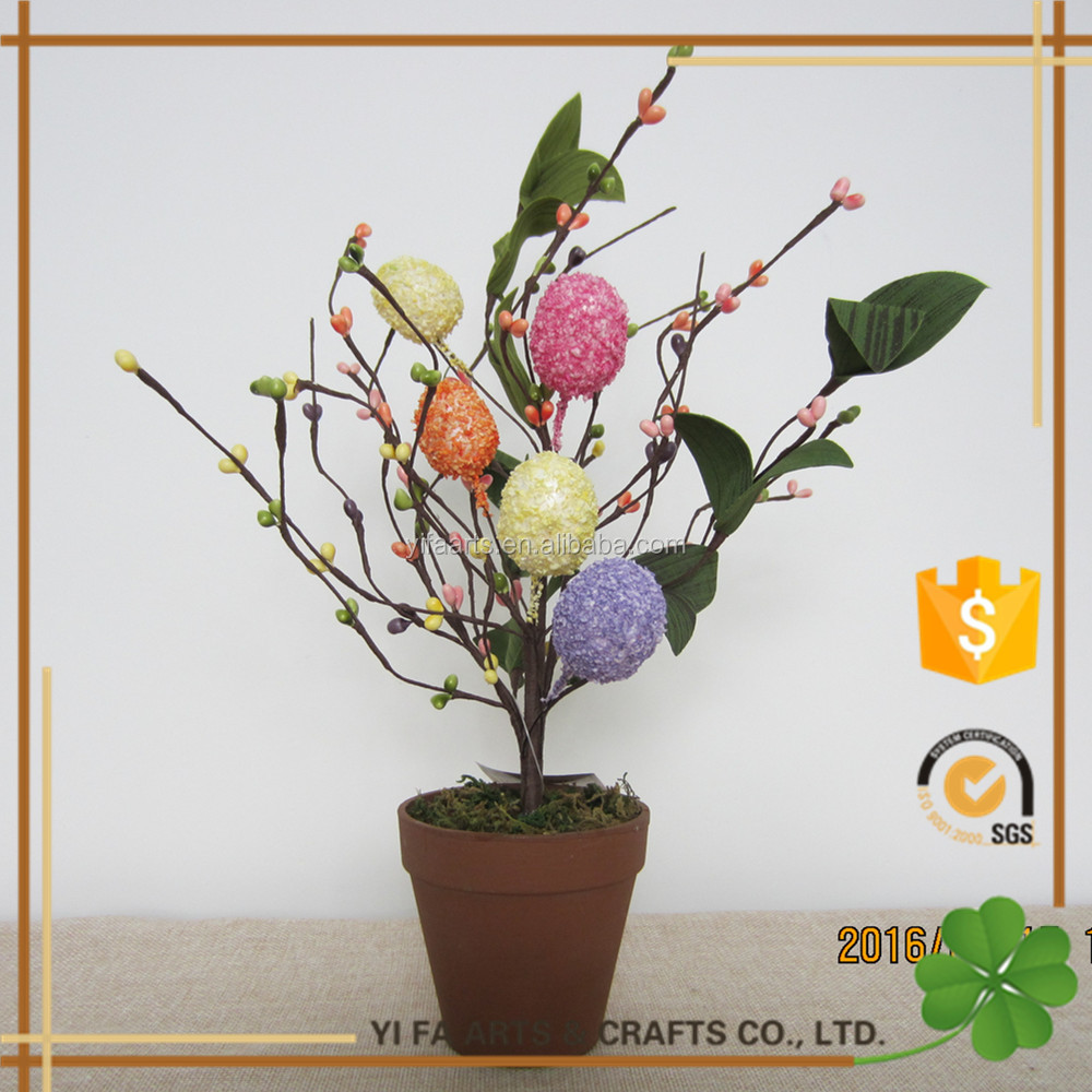 "14"" multi color egg easter table tree"