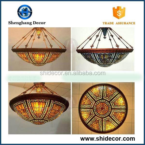 European style dragonfly stained tiffany lamp hanging wall chandeliers lights