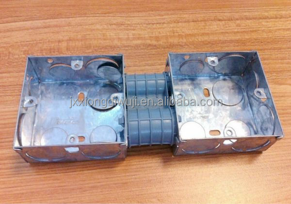 2-Gang GI box British Standard Electrical switch box