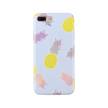 Korean Laser Engraving Pineapple Watermelon Durian TPU Cell Phone Case For iphone x 8 8plus 7 7plus 6 6plus 6s