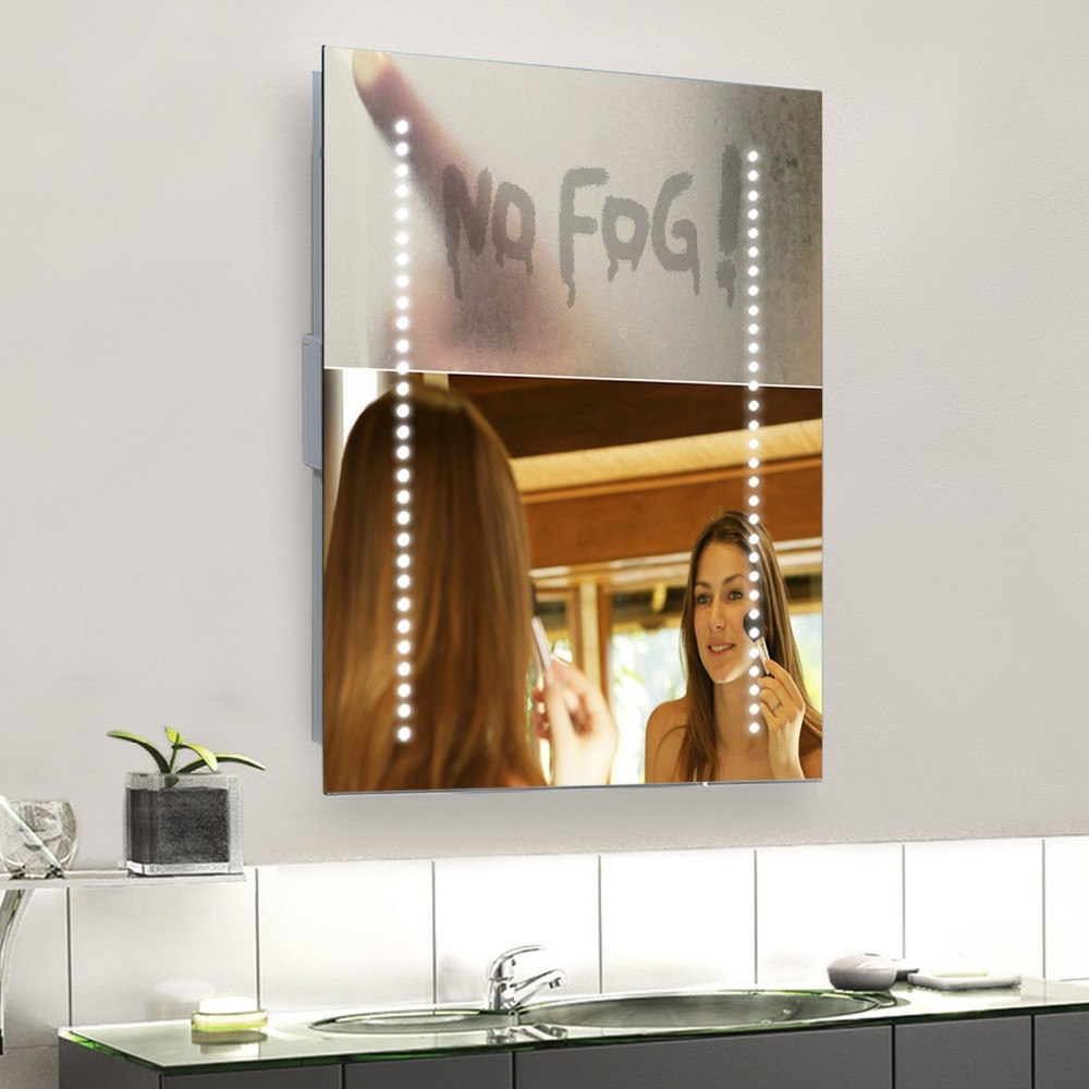 NRG LED mirror with heating mat for bathroom