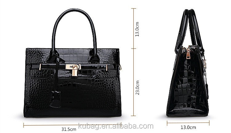 fashion classical big branded designs famous women lady faux leather handbag clibaba china