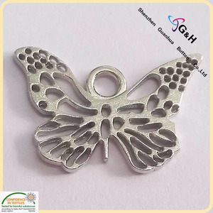 custom made butterfly shape metal jewelry tags