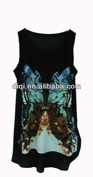 2014 ladies printed tops latest design for summer
