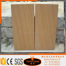Yellow Wood Vein polished natural Sandstone tile Price