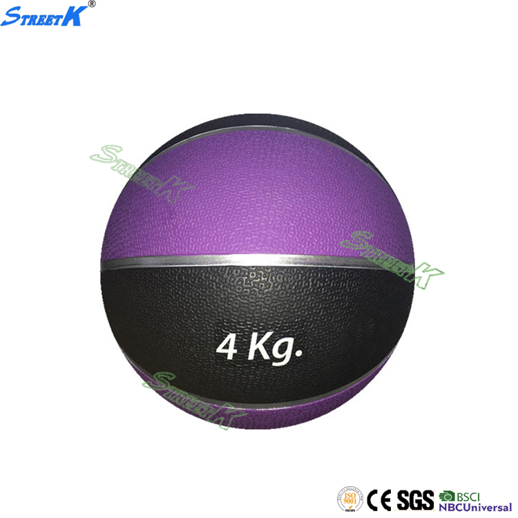 good sale training balls custom logo 4kg weight rubber medicine ball sports goods in china
