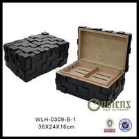 New design black witchcraft unfinished wooden cigar box