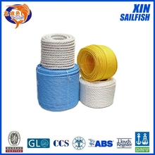 colorful new material 8mm polypropylene rope from factory