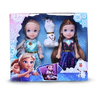 6 inch Frozen Toys Young Elsa and Anna Doll Giftpack with Olaf