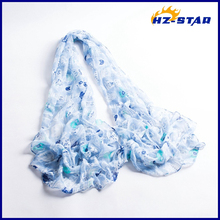 HZW-13564003 fashion beautiful spring and summer ladies neckwear shawl tulle scarf