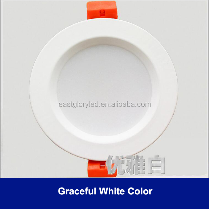 2.5 inch LED downlight elegant white color 3W Ceiling lamp three choice for color
