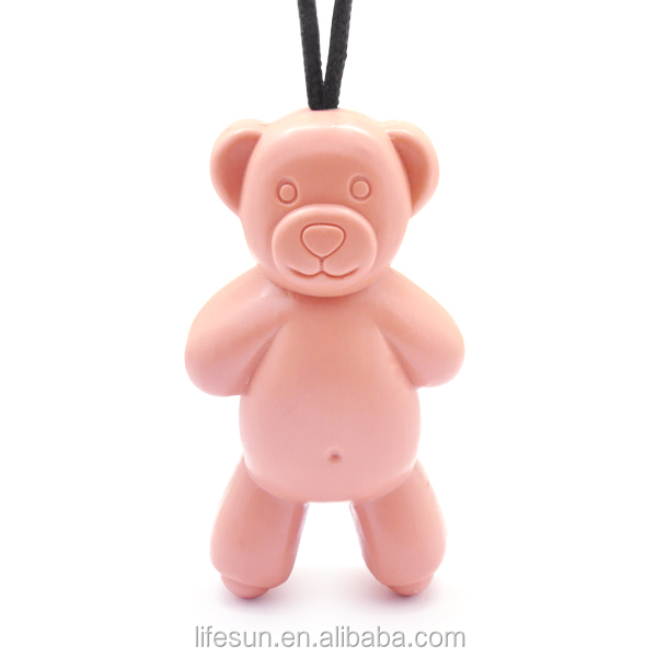 300g Cartoon Teddy Soap On Rope