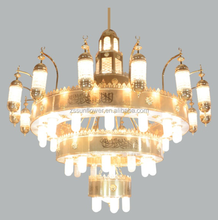 Mosque chandelier islamic decoration Masjid project lamp
