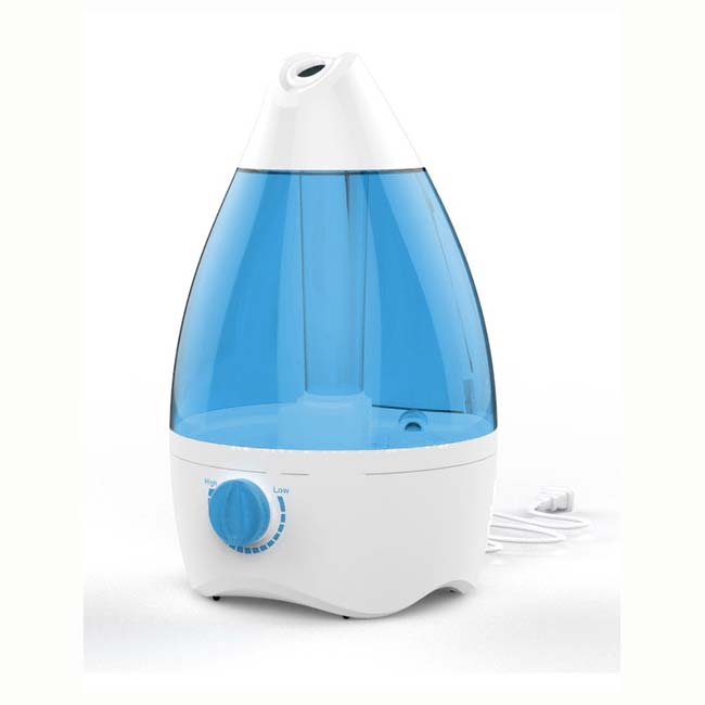 ultrasonic air humidifier with adjustable moist volume