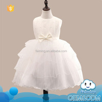 Cheap china wholesale kid clothing ruffle puffy princess cutting summer fancy baby wedding latest party wear dresses for girls
