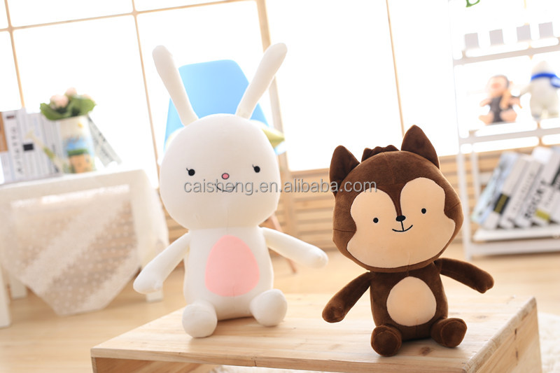 hot sale soft plush toys <strong>rabbit</strong> and fox the same as the A descendant of the sun
