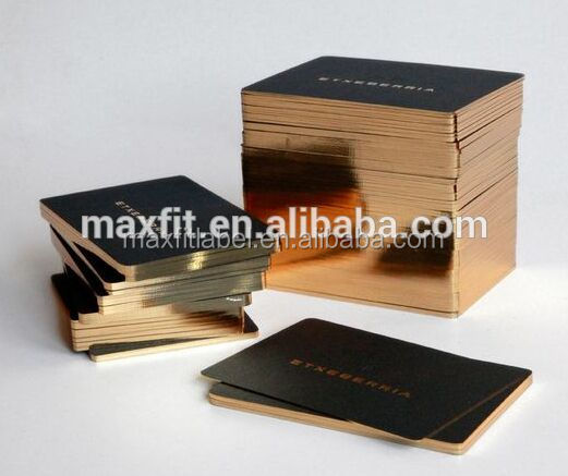 Custom high quality logo gold or sliver stamping business cards