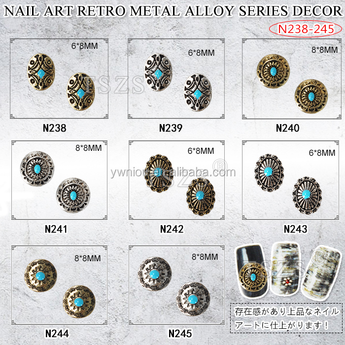 fashionable nail art stickers gold silver metal nail decoration nail jewelry