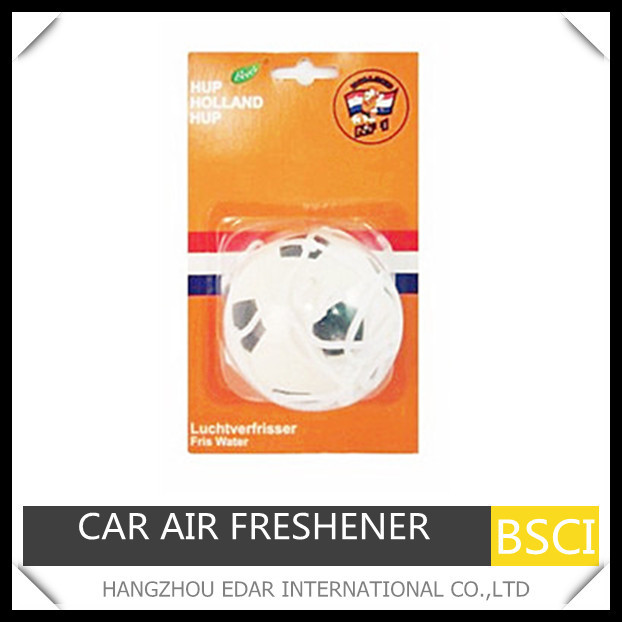 Pu football car hanging air freshener with net bag
