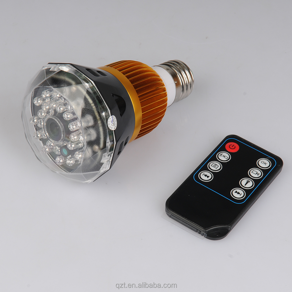 Technology Group 720p wifi wireless remote control H.264 IR night vision mini hidden bulb camera