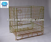 Good quality Industrial stackable storage wire mesh cage fronts