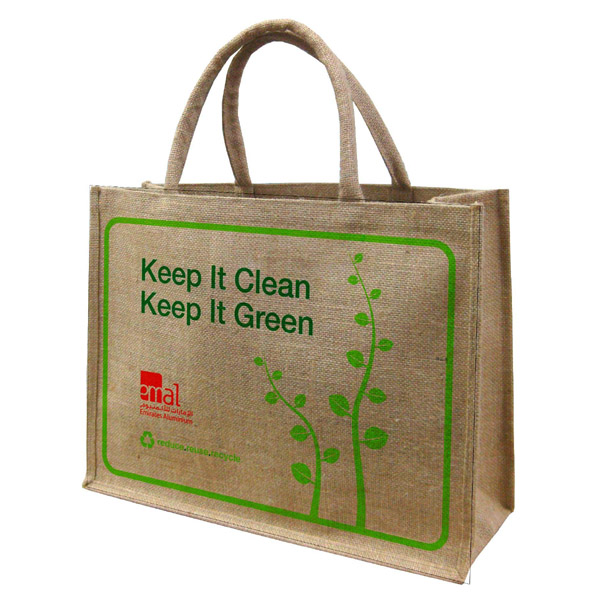 Wholesale fashion cheap printed natural small handle jute bag,jute shopping bag